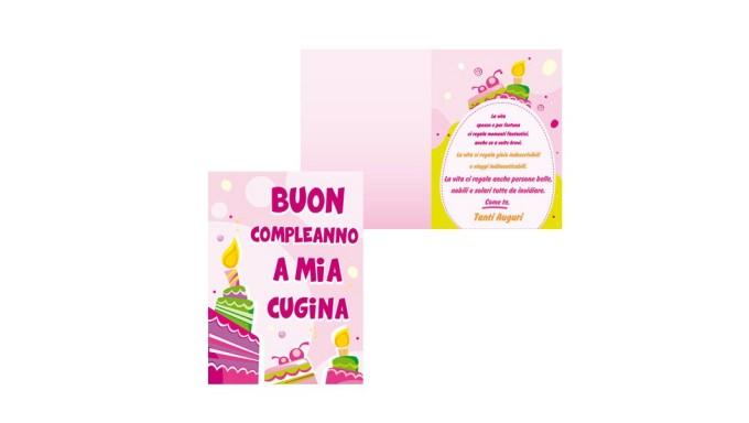 Biglietto Dauguri Specifico Di Compleanno A Mia Cugina Idea Regalo