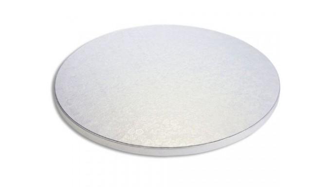 CAKE BOARD TONDO Ø 26 x H 1,2cm - Vassoio Argentato -  Piatto SottoTorta rigido