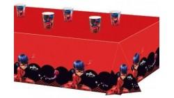 Tovaglia MIRACULOUS LADYBUG 120x180 cm - addobbo decoro tavolo torta - festa per bambini