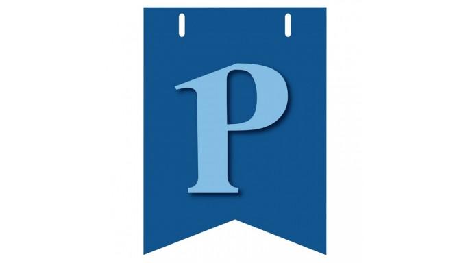 Bandiera lettera p in carta celeste per la composizione di festone bandiera lettera p in carta celeste per la composizione di festone pesonalizzato o composizione di nome altavistaventures Choice Image
