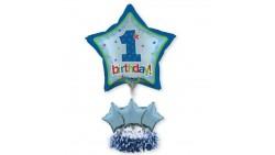 Kit CENTROTAVOLA Palloncini 1° compleanno Azzurro bambino - Fai da Te - bimbo