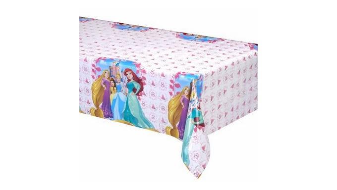 1 tovaglia Princpesse Disney  120x180cm - addobbo decoro tavolo torta - festa per bambini