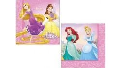20 tovaglioli Princpesse Disney  - addobbo decoro tavolo torta - festa per bambini