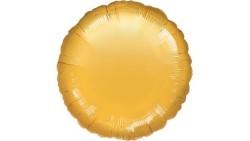 Pallone PALLONCINO a forma TONDO ORO METAL in foil MYLAR 18