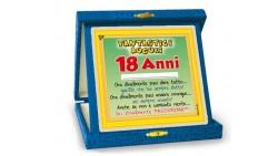 La TARGA dei 18 ANNI - idea scherzo gadget per la festa di compleanno del maggiorenne