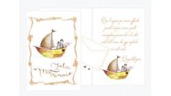 Biglietto di auguri Augurale di Matrimonio con GLITTER  - PORTA SOLDI - Completo di busta