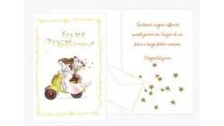Biglietto di auguri Augurale di Matrimonio con GLITTER - Completo di busta - PORTA SOLDI