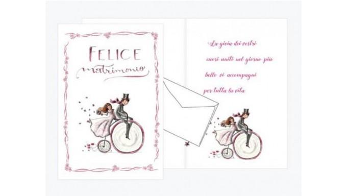 c3fbbcea1066 Biglietto di auguri Augurale di Matrimonio con GLITTER - PORTA SOLDI -  Completo di busta