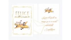 Biglietto Matrimoni di auguri Augurale con GLITTER - Completo di busta - PORTA SOLDI