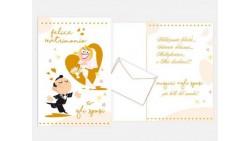 Biglietto di auguri Augurale di Matrimonio - Completo di busta - PORTA SOLDI