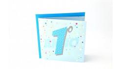 Biglietto d'auguri per 1° Compleanno bimbo Musicale - SONORO per bambino