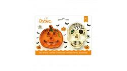 Set 2 TAGLIAPASTA Halloween - per creare fantastici biscotti o dolci