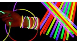 10 BRACCIALETTI FLUORESCENTI glow stick