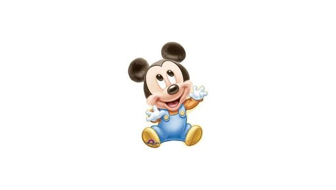 Pallone in foil MYLAR MICKEY MOUSE TOPOLINO BABY - addobbo decorazione feste, party, compleanno, feste bambini - gonfiab