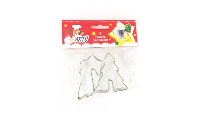 Set 2 formine  TAGLIAPASTA NATALE natalizi - per creare fantastici biscotti o dolci