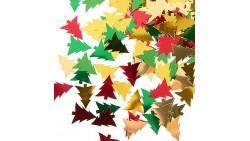 Confetti - Coriandoli da tavola sagomati ALBERO DI NATALE - rosso, verde e Oro