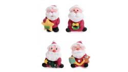 Babbo Natale con doni - Soggetti Natalizi in ZUCCHERO -  per torte - 1 pezzo casuale