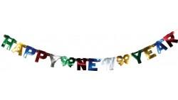 FESTONE scritta HAPPY NEW YEAR (buon anno nuovo) - ghirlanda decorazione in carta
