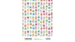 2 Fogli Carta da REGALO confezionamento - Instawrap Gifts Galore - 50x70cm