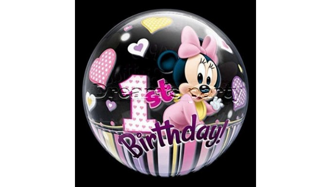 PALLONE BUBBLES MINNIE 56 CM