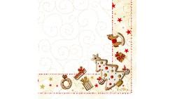 20 TOVAGLIOLI in carta GINGERBREAD - addobbo decoro tavola natalizia