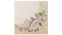 20 TOVAGLIOLI ROSE FLOWERS - in carta - WEDDING - addobbo decoro tavola