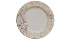 8 PIATTI ROSE FLOWERS - Ø21cm in carta - WEDDING - addobbo decoro tavola