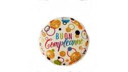 Palloncino foil mylar Buon Compleanno  Pois gold- 46 cm