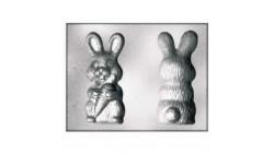 Stampo Coniglietto con Carota per CIOCCOLATO/Gelatina di PASQUA cm.8X5