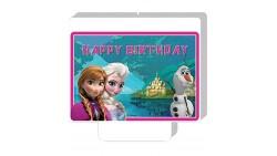 Candela FROZEN - Candelina in cera per torte e dolci con Elsa, Anna e Olaf