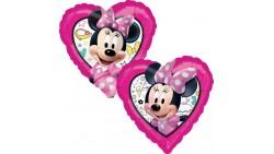 Pallone mylar Minnie cuore  dimensone 43 cm