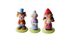 Cappuccetto Rosso - set personaggi in zucchero 3D - Decorazione per torta, dolci