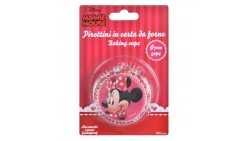 50 pirottini MINNIE MOUSE in carta forno -per Cupcake, muffin, DOLCI - TOPOLINA