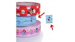 Nastro GIROTORTA in Tessuto MICKEY Mouse - decorazione torte e dolci - 1 Metro