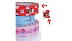 Nastro GIROTORTA in Tessuto MINNIE Mouse - decorazione torte e dolci - 1 Metro