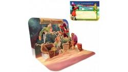 Biglietto augurale PETER PAN - 3D Disney - auguri di compleanno bambini - Pop Up