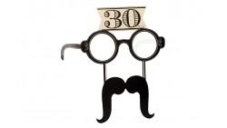 4 Occhiali in Carta 30 ANNI con baffi - idea scherzo gadget per feste compleanno