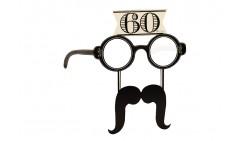 4 Occhiali in Carta 60 ANNI con baffi - idea scherzo gadget per feste compleanno