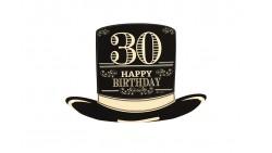 4 Sagoma CILINDRO in Carta 30 ANNI  - idea scherzo gadget per feste compleanno