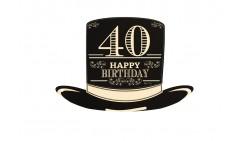 4 Sagoma CILINDRO in Carta 40 ANNI  - idea scherzo gadget per feste compleanno