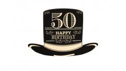 4 Sagoma CILINDRO in Carta 50 ANNI  - idea scherzo gadget per feste compleanno