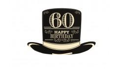 4 Sagoma CILINDRO in Carta 60 ANNI  - idea scherzo gadget per feste compleanno