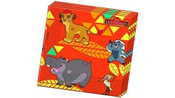 20 Tovaglioli RE LEONE Lion Guard Simba Kian Nala Timon Pumba Mufasa Zazu Harsh Matata -decoro Tavolo - in carta monouso
