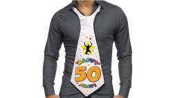 CRAVATTONE Party 50 Anni - idea scherzo gadget per compleanno uomo
