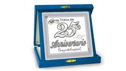La TARGA per il 25° anniversario di matrimonio - idea gaget scherzo