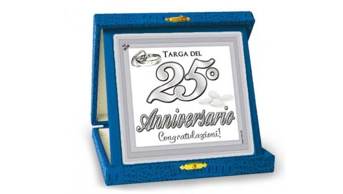 Xxv Anniversario Di Matrimonio.La Targa Per Il 25 Anniversario Di Matrimonio Idea Gaget Scherzo