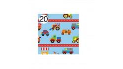 Rotolo Carta da confezione REGALO AUTOMEZZI compleanno - 2 Fogli da 70x100cm
