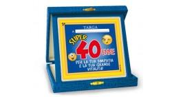 La TARGA del 40 ENNE - idea scherzo gadget per la festa di compleanno dei 40 ANNI