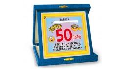 La TARGA del 50 ENNE - idea scherzo gadget per la festa di compleanno dei 50 ANNI
