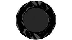 10 Piatti NERO in carta monouso Ø27cm - addobbo decoro tavola
